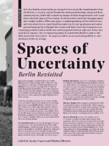 Omslag - Spaces of Uncertainty - Berlin revisited