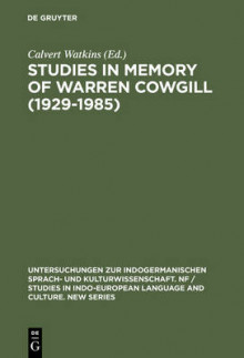 Studies in Memory of Warren Cowgill (1929 - 19 av Calvert Watkins (Innbundet)
