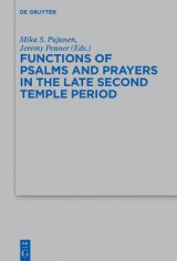 Omslag - Functions of Psalms and Prayers in the Late Second Temple Period