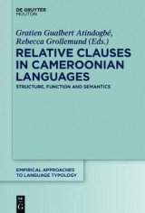 Omslag - Relative Clauses in Cameroonian Languages