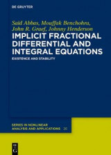 Omslag - Implicit Fractional Differential and Integral Equations
