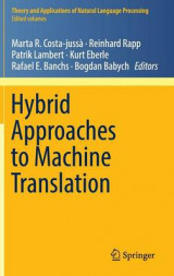 Omslag - Hybrid Approaches to Machine Translation 2016