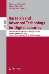 Omslag - Research and Advanced Technology for Digital Libraries 2015