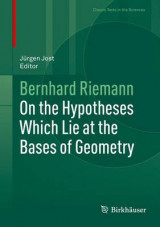 Omslag - On the Hypotheses Which Lie at the Bases of Geometry 2016