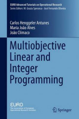 Omslag - Multiobjective Linear and Integer Programming 2016