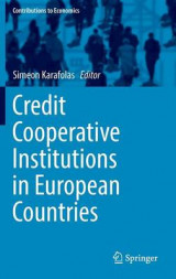 Omslag - Credit Cooperative Institutions in European Countries 2016