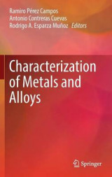 Omslag - Characterization of Metals and Alloys 2017