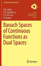 Omslag - Banach Spaces of Continuous Functions as Dual Spaces
