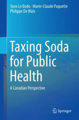 Omslag - Taxing Soda for Public Health 2016