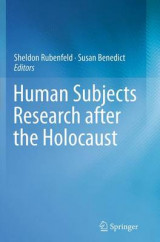 Omslag - Human Subjects Research After the Holocaust