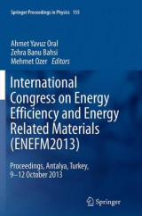 Omslag - International Congress on Energy Efficiency and Energy Related Materials (ENEFM2013)