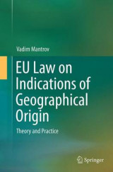 Omslag - EU Law on Indications of Geographical Origin