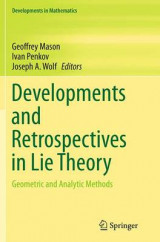 Omslag - Developments and Retrospectives in Lie Theory