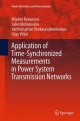 Omslag - Application of Time-Synchronized Measurements in Power System Transmission Networks