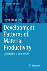 Omslag - Development Patterns of Material Productivity