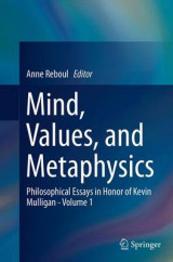 Omslag - Mind, Values, and Metaphysics: Volume 1