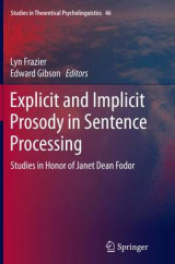 Omslag - Explicit and Implicit Prosody in Sentence Processing