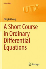 Omslag - A Short Course in Ordinary Differential Equations