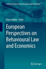 Omslag - European Perspectives on Behavioural Law and Economics