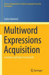 Omslag - Multiword Expressions Acquisition