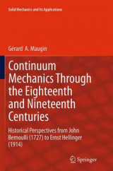 Omslag - Continuum Mechanics Through the Eighteenth and Nineteenth Centuries