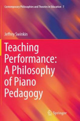 Omslag - Teaching Performance: A Philosophy of Piano Pedagogy