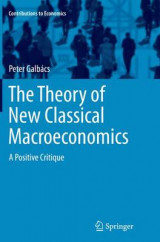 Omslag - The Theory of New Classical Macroeconomics