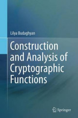 Omslag - Construction and Analysis of Cryptographic Functions