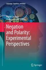Omslag - Negation and Polarity: Experimental Perspectives