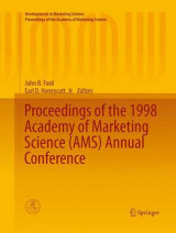 Omslag - Proceedings of the 1998 Academy of Marketing Science (AMS) Annual Conference