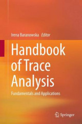 Omslag - Handbook of Trace Analysis