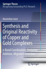 Omslag - Synthesis and Original Reactivity of Copper and Gold Complexes