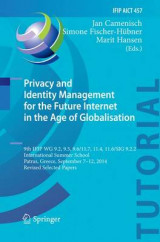 Omslag - Privacy and Identity Management for the Future Internet in the Age of Globalisation