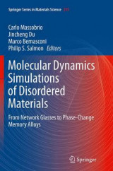 Omslag - Molecular Dynamics Simulations of Disordered Materials