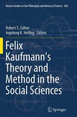 Omslag - Felix Kaufmann's Theory and Method in the Social Sciences