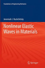 Omslag - Nonlinear Elastic Waves in Materials