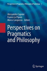 Omslag - Perspectives on Pragmatics and Philosophy