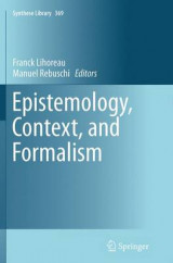 Omslag - Epistemology, Context, and Formalism