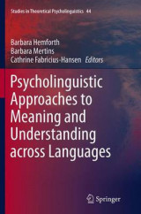 Omslag - Psycholinguistic Approaches to Meaning and Understanding Across Languages