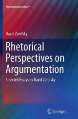Omslag - Rhetorical Perspectives on Argumentation
