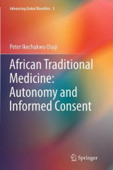 Omslag - African Traditional Medicine: Autonomy and Informed Consent