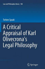 Omslag - A Critical Appraisal of Karl Olivecrona's Legal Philosophy