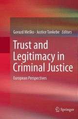 Omslag - Trust and Legitimacy in Criminal Justice