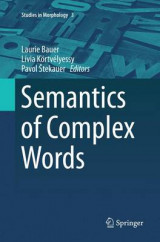 Omslag - Semantics of Complex Words