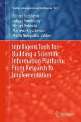 Omslag - Intelligent Tools for Building a Scientific Information Platform: From Research to Implementation