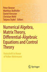 Omslag - Numerical Algebra, Matrix Theory, Differential-Algebraic Equations and Control Theory