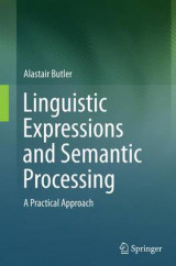 Omslag - Linguistic Expressions and Semantic Processing