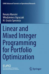 Omslag - Linear and Mixed Integer Programming for Portfolio Optimization