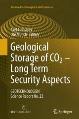 Omslag - Geological Storage of CO2 - Long Term Security Aspects