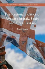 Omslag - The Regional Politics of Welfare in Italy, Spain and Great Britain 2016